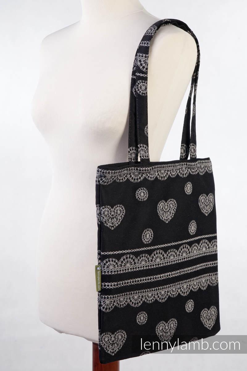 einkaufstasche hergestellt aus gewebtem stoff 60 baumwolle 40 leinen glamorous linen lace. Black Bedroom Furniture Sets. Home Design Ideas