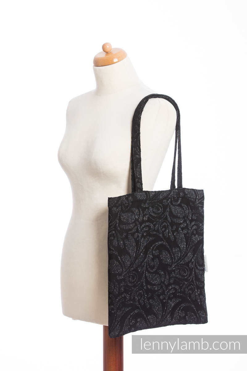 einkaufstasche hergestellt aus gewebtem stoff 96 baumwolle 4 metallisiertes garn. Black Bedroom Furniture Sets. Home Design Ideas