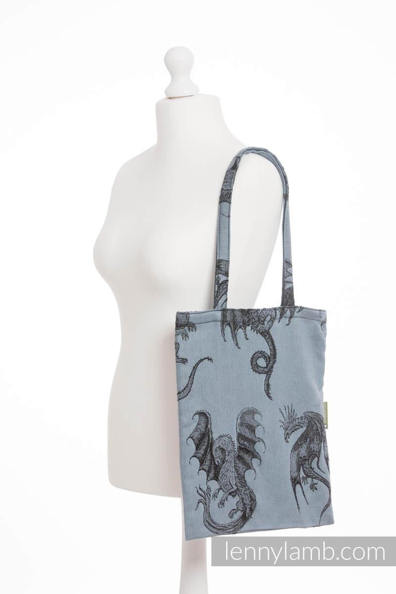 einkaufstasche hergestellt aus gewebtem stoff 100 baumwolle dragon steel blue. Black Bedroom Furniture Sets. Home Design Ideas