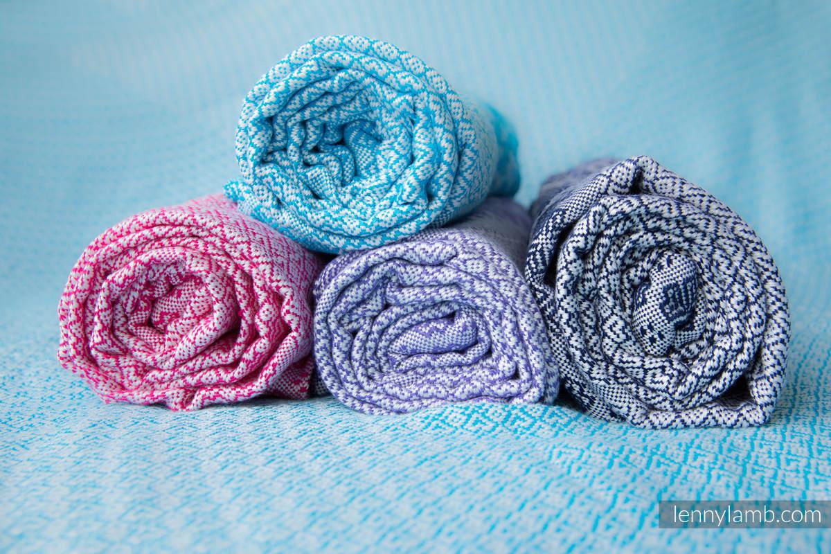 gewebte decke 100 baumwolle lila. Black Bedroom Furniture Sets. Home Design Ideas