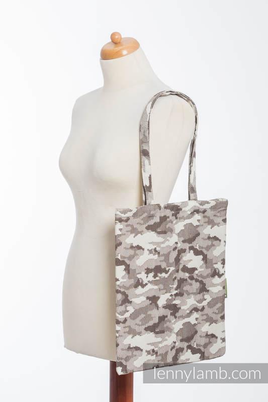 einkaufstasche hergestellt aus gewebtem stoff 100 baumwolle beige camo. Black Bedroom Furniture Sets. Home Design Ideas