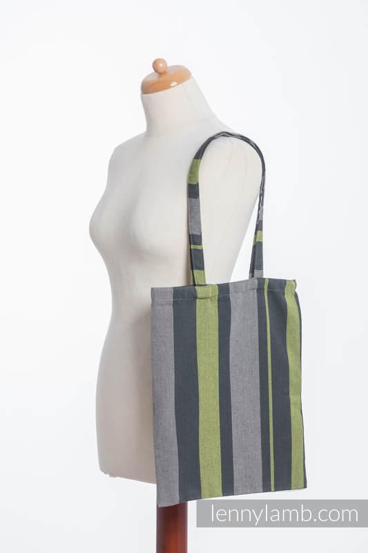 einkaufstaschen aus gewebtem stoff 100 baumwolle smoky lime. Black Bedroom Furniture Sets. Home Design Ideas