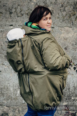 Parka Tragejacke - Größe 6XL - Khaki & Diamond Plaid